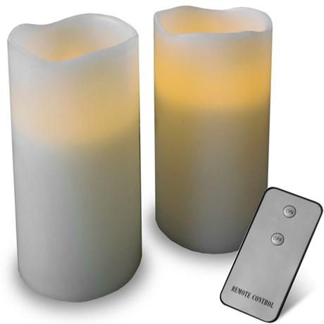 Nykomna Elektriska stearinljus med fjärrkontroll   Bluebox.se UU-06