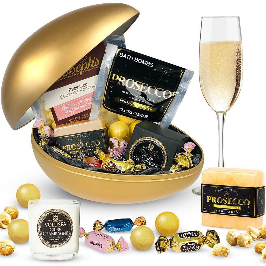 kostar charm Förenta staterna bra utseende Proseccoägget: Guldigt påskägg med Prosecco-tema! | Bluebox.se